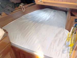 Image of an installed custom mattress.