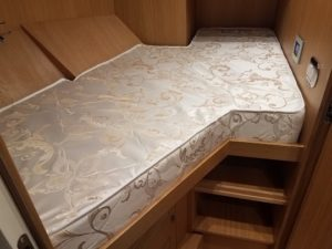 Image of a custom crew mattress v birth.