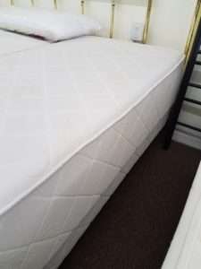 Image of a zeno mattress in a showroom.